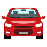 Vector cartoon red car front view Royalty Free Stock Images