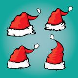 Vector cartoon red Santa hat Royalty Free Stock Photo