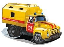 Vector cartoon repair truck stock image