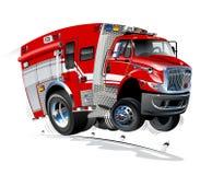 Vector Cartoon Rescue Truck royalty free stock photos