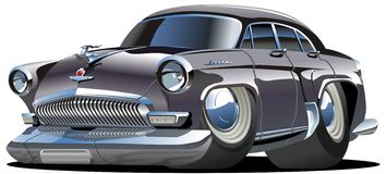 Vector Cartoon Retro Car Stock Photography