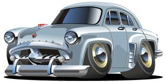 Vector cartoon retro car Stock Photos