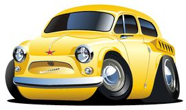 Vector cartoon retro car Stock Photo