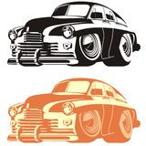 Vector cartoon retro car Royalty Free Stock Photos