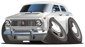 Vector cartoon retro car Stock Images