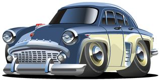Vector cartoon retro car Royalty Free Stock Image