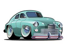 Vector Cartoon retro car Royalty Free Illustration