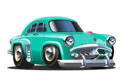 Vector Cartoon retro car royalty free illustration