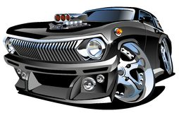 Vector Cartoon retro hot rod Stock Images