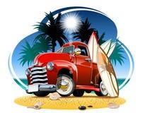 Free Vector Cartoon Retro Pickup On Beach Royalty Free Stock Photo - 176124525