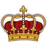 Vector cartoon royal crown Stock Image