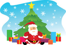 Vector cartoon santa Royalty Free Stock Images