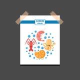 Vector cartoon sea underwater creatures background Royalty Free Stock Photo