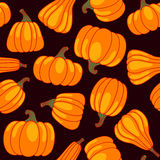 Vector cartoon seamless pattern with pumpkin Stock Photo