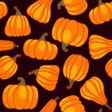 Vector cartoon seamless pattern with pumpkin Stock Photo