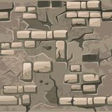 Vector Cartoon seamless pattern texture old crack brick wall. Cartoon seamless pattern texture old crack brick wall, vector background vector illustration