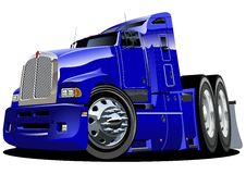 Vector cartoon semi-truck. Available ai-10  format separated by groups for easy edit Royalty Free Stock Photography