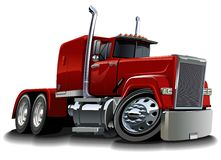 Vector cartoon semi truck Stock Photography
