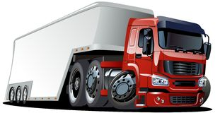 Vector cartoon semi truck Stock Image