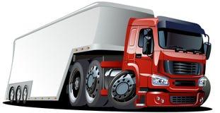 Vector cartoon semi truck Stock Image
