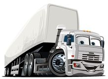 Vector Cartoon Semi Truck Royalty Free Stock Photos
