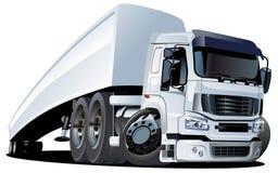Vector cartoon semi truck one click repaint Royalty Free Stock Image