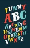 Colorful Brush Alphabet Stock Photos