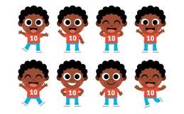 Cartoon Set Of Cute Kids Isolated. Vector Cartoon Set Of Cute Kids Isolated Stock Photography