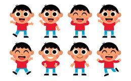 Cartoon Set Of Cute Kids Isolated. Vector Cartoon Set Of Cute Kids Isolated Royalty Free Stock Image