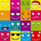 Vector Cartoon Set Of Different Cute Faces Royalty Free Stock Photo