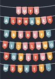 Vector Latin alphabet flags parties vector illustration