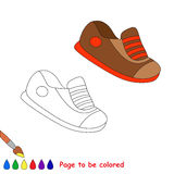 Vector cartoon shoes to be colored. Royalty Free Stock Photos