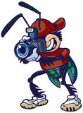 Vector Cartoon Shutter Bug with Camera Stock Images