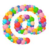 Vector cartoon at sign for kids colored balls. stock photography