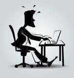 Vector cartoon silhouette of businessman Stock Image