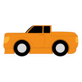 Vector Cartoon Simple Car On White Background Stock Photo