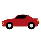 Vector Cartoon Simple Car On White Background Stock Photography