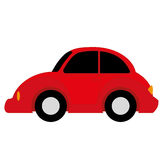 Vector Cartoon Simple Car Royalty Free Stock Photography