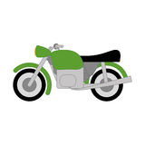 Vector Cartoon Simple Motorcycle Royalty Free Stock Photo