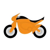 Vector Cartoon Simple Motorcycle Stock Images
