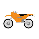 Vector Cartoon Simple Motorcycle Royalty Free Stock Image