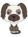 Vector cartoon - sitting dog Royalty Free Stock Images