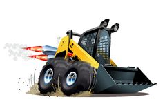 Vector Cartoon Skid Steer Stock Image