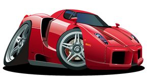 Vector cartoon sportcar Royalty Free Stock Photo