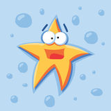 Vector cartoon star Royalty Free Stock Photography