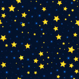 Vector cartoon stars and sky pattern with sparkle Royalty Free Stock Photography