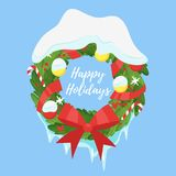 Christmas New Year greeting card Stock Photography