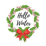 Christmas New Year greeting card Stock Images