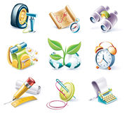 Vector cartoon style icon set. Part 10 Royalty Free Stock Photography