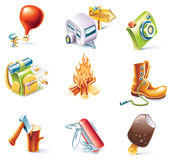 Vector cartoon style icon set. Part 14. Traveling Royalty Free Stock Images